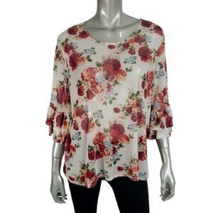 No Boundries Womens Top Plus Size XXXL Bell Sleeve